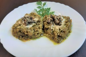 Persian Iranian Food Appetizer Kashk Bademjan Eggplant Onion Herbs Roasted Nuts Spices Milan